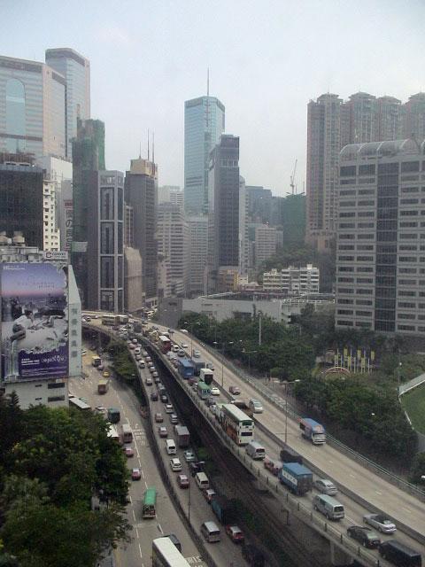 香港、ホテルの窓からの風景