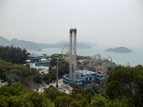 香港島の遊園地