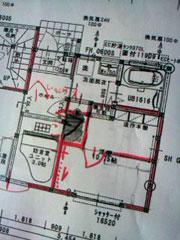 防音室の見取り図