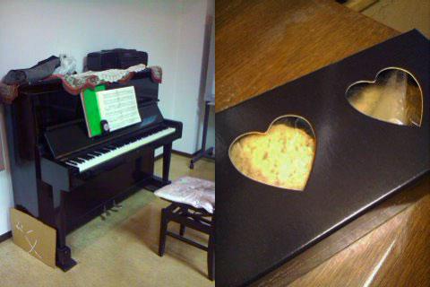 公民館のピアノ