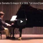 朝練のモーツァルトをYouTubeに(第2楽章)