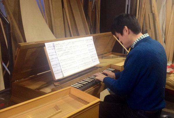 モダンピアノ愛好家によるバロックコンサートに参加