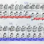 練習日誌- 練習曲 Op.25-3、中間部の黒鍵のベースに苦戦