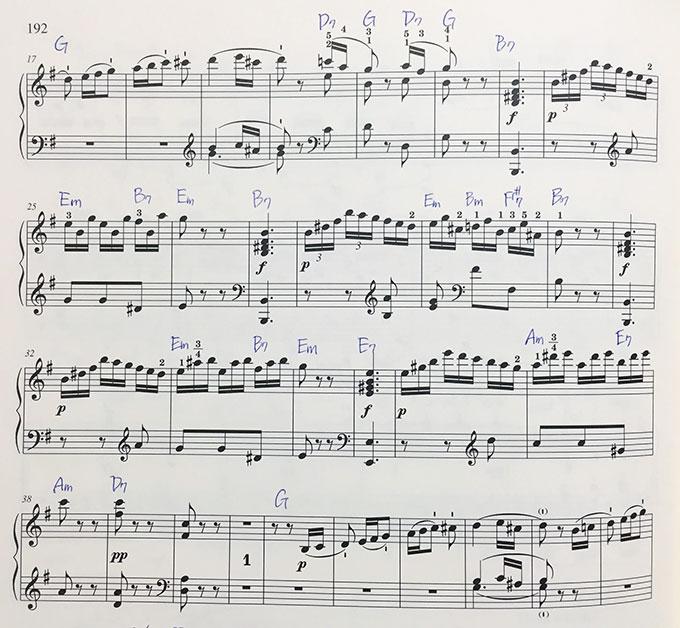 ベートーヴェン ピアノソナタ op.14-2 第3楽章 楽譜