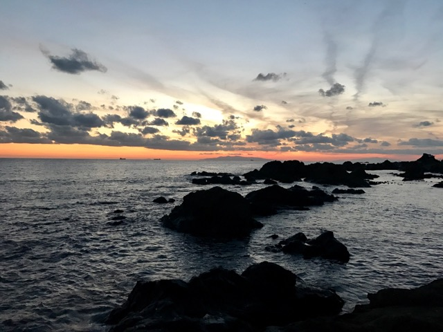 白浜・夕暮れ