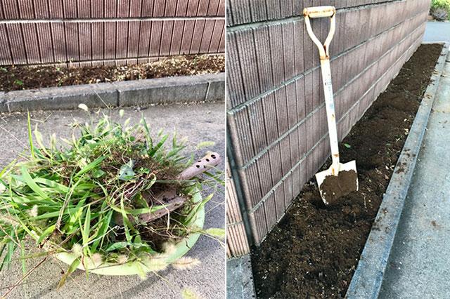 花壇のメンテナンス