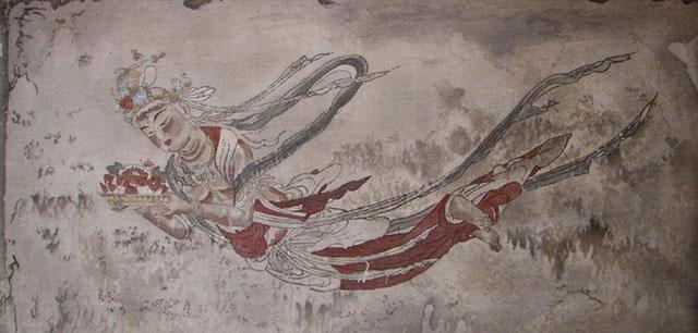 法界寺阿弥陀堂に描かれた飛天