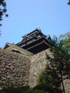 松江城の石垣