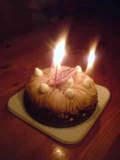 栗のバースデーケーキ