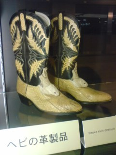 蛇革のブーツ