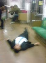 通勤電車の酔客