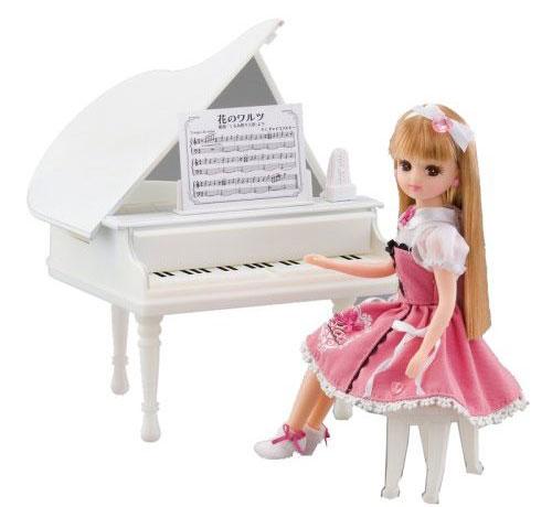 リカちゃんインテリア ホワイトオルゴールピアノ