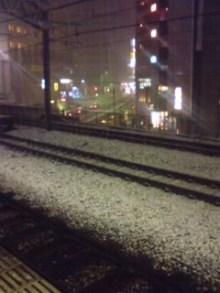 五反田駅の雪