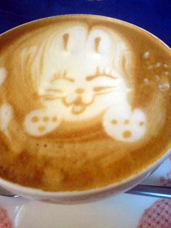 うさぎのカフェラテ
