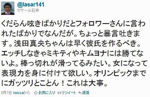 ラサール石井氏のツイート