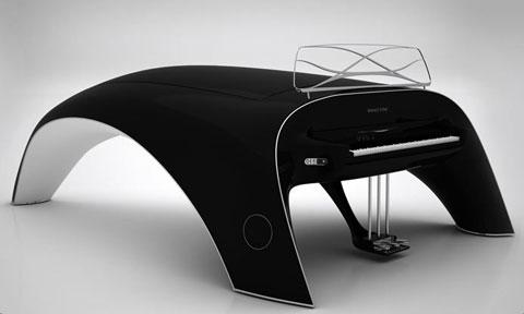 くじらの形のピアノ