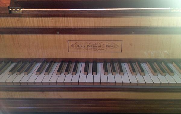 深町商店工房見学、フォルテピアノ