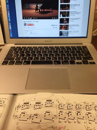 リハーサル動画と楽譜