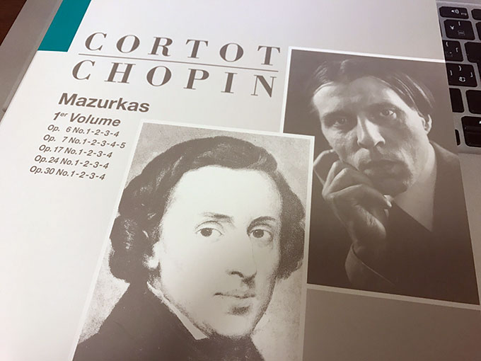 ショパン「マズルカ集」楽譜 コルトー版