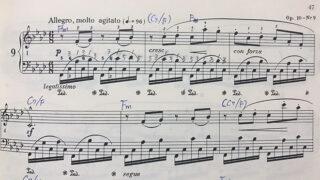 ショパン「練習曲 op.10-9」楽譜