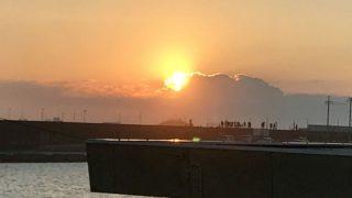 鹿島灘漁港・初日の出