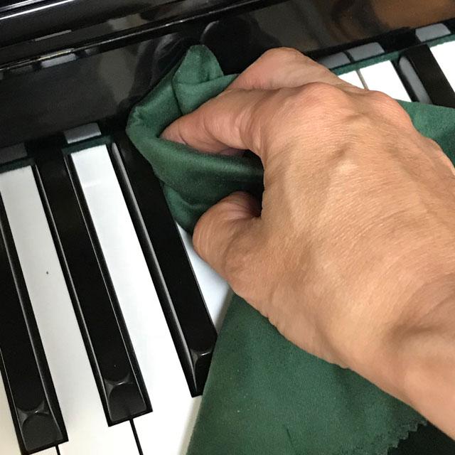 ピアノ、鍵盤の掃除