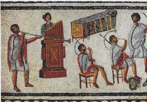 古代ローマの水オルガン演奏図