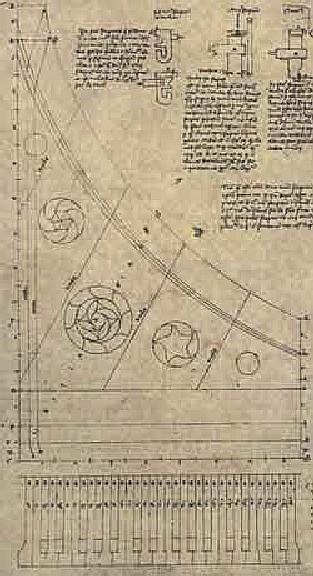 アンリ・アルノーのクラヴィシンバルム図面