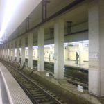 ガラガラの地下鉄駅