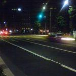 ガラガラの道路