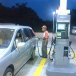 ガソリンスタンド満タン給油