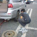 自動車のタイヤ交換
