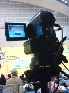 体操大会、撮影中