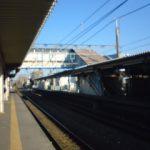 青空の駅のホーム