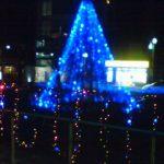 青いクリスマスツリー