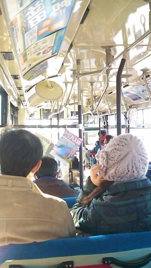 バスで初詣へ
