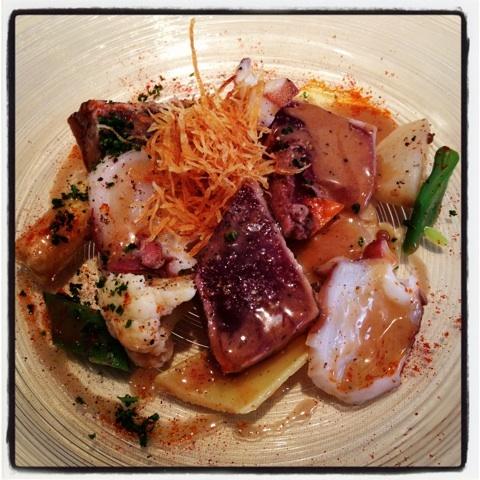 レストランハシモト 魚の前菜。