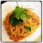 小さなホタテのスパゲティー