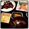 刺身と煮物の和定食