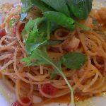 ミニホタテとトマトのスパゲティ